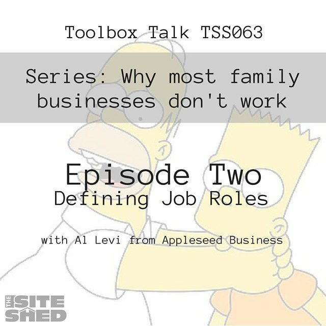 Episode TSS063 - Defining Roles in a family business.