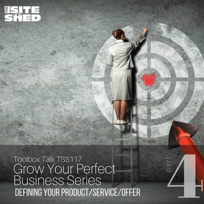 Defining Your Offer podcast from The Site Shed